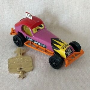 Corgi Rockets Todd Sweeney Stock Car Purple Yellow Int w/ Tune Up Key VTG 1970s