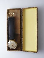 Vintage Working 9ct Yellow Gold C1950s Jaeger LeCoultre Gents Wrist Watch