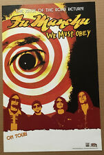 Fu Manchu Rare 2007 Promo Tour Poster for Obey Cd Usa Never Displayed 11x17