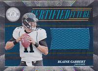 BLAINE GABBERT RC 2011 TOTALLY CERTIFIED FUTURE #2 JERSEY #/499 FB5231