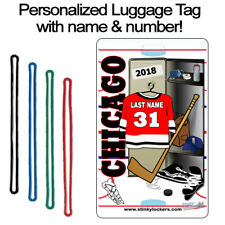 Personalized Chicago Hockey Luggage Tag