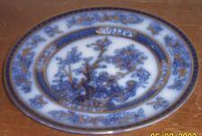 "2 Fondeville Ambassador Ware blue flow  trees w/ heavy gilt gold trim 9"" Plates"