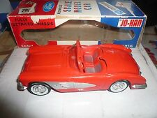 1959 Chevrolet Red Corvette Conv. Promo Friction in Box