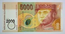 More details for 1995 slovakia 5000 korun banknote milennium 2000 low no. a00010577 p40 unc rare