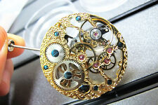 17 Jewels Rose Golden Hollow 6497 Hand Winding Movement for Parnis Wrist Watch