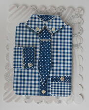 PACK 2 MENS BLUE SHIRT & TIE EMBELLISHMENT FOR CARDS AND CRAFTS