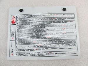Ferrari California, Tool Instructions Plate, Used, P/N 283440