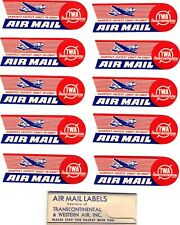 TWA Package of Airmail Labels - 1940's