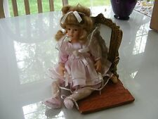 Ballerina Dancer Porcelain Doll on a Stand with Mirror