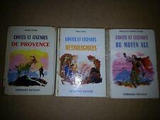 Contes et Légendes  FERNAND NATHAN lot : Moyen âge Corse Provence