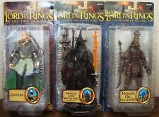 "LORD OF RINGS LOTR LEGOLAS WITCH-KING ORC LIEUTENANT TOYBIZ 6"" RARE TRU 3-PACK"