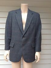 Brooks Bothers Mens Blue Green Red Plaid Wool Two Button Blazer Sport Coat 40R