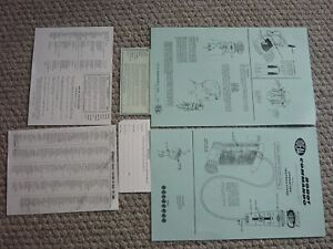 IDEAL ROBOT COMMANDO INSTRUCTIONS WARRANTY PUNCH CARD DEALER LIST PAPERWORK SET!