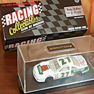 Rusty Wallace #27 Kodiak 1995 Pontiac Action 1:64 Diecast NASCAR Boxed w/ case