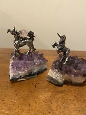 New ListingTwo Pewter Unicorns on Amethyst Geode