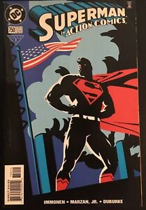 Action Comics #750 • KEY 1st Appearance Of Crazytop! Patriotic Cover (1999, DC)