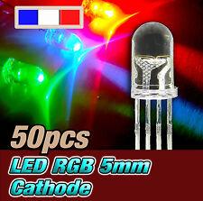 718/50# LED RGB rouge vert bleu 5mm anode commune 50pcs