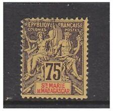 Madagascar (Sainte Marie) - 1894, 75c stamp - F/U - SG 12