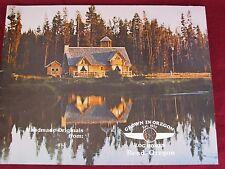 """Vtg 1984 """"Grown in Oregon"""" Log Cabin Homes Home Plans Bend Brochure Booklet #1"""