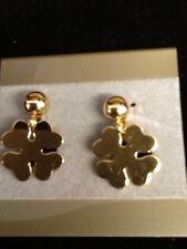 Vintage 1/20 12Kt Gold Filled Signed FORSTNER 4 Leaf Clover Earrings Screwbacks