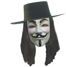 V For Vendetta - Set - Hat, Mask & Wig - Adult - Guy Fawkes Anonymous