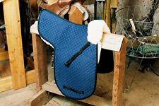 Dressage Numnah Saddle Pads with Pommel Roll - Blue