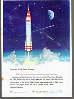 1950's Vintage Disneyland TWA Rocket Ship Flight Certificate Old Original Disney