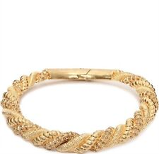 ALEXANDER MCQUEEN GOLD PLATED BRASS TWISTED CHOKER CRYSTAL NECKLACE