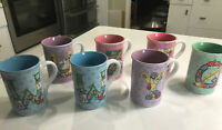 Lot Of 7 Mary Engelbreit Letter Mug Coffee Tea Cup Rare 2003 Slightly used