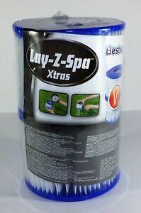 2 x Bestway Lay Z Spa Size VI Filter Hot Tub Cartridge Vegas Monaco Miami Paris
