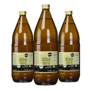 11,30€/kg Wohltuer Bio Aloe Vera Saft frisch naturtrüb (3er Pack  3x 1L)