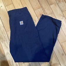 Mens Carhartt Carpenter Pants 30 X 30 Navy BLUE Workwear