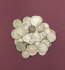 Antique Coin Collection of Barber Quarter .25c, Mercury .10c, Buffalo .05c