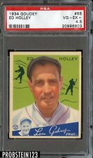 1934 Goudey #55 Ed Holley Philadelphia Phillies PSA 4.5 VG-EX+