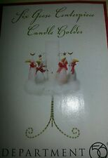DEPT56 KRINKLES 6 GEESE A LAYING CHRISTMAS CENTERPIECE CANDLEHOLDER NEW IN BOX