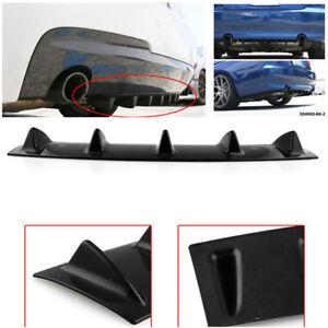 Car Rear Body Bumper Diffuser Shark Fin PU Spoiler Gloss Black Stylish Design