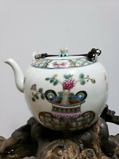 Antique Chinese famille rose porcelain TEAPOT