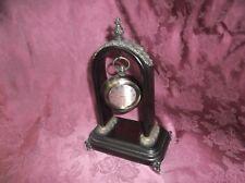 New listing Vintage Decorative Wooden-Brass Desk /Table Clock Home Decor