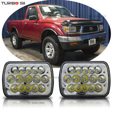 "2X H6054 7""x6"" LED Headlight Sealed Beam Square Headlamp for Toyota Pickup Truck"