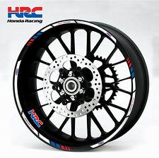 Honda HRC motorcycle wheel decals 12 rim stickers laminated set cbr 1000rr 600rr