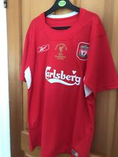 RETRO Liverpool 2005 Shirt Large GERRARD XL champions league Istanbul Football