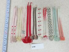 004#3749 Silk Haori-Himo Flat Braid 10 pairs Set Japanese Kimono Accessory