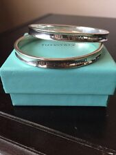 "Tiffany & Co.Sterling Silver 925 1837 Bangle Bracelet Fits Up To 5.75"" Wrist"