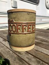 Vintage Tremar Stoneware Storage Lidded Coffee Jar