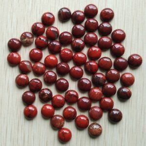 Wholesale 50pcs/lot Natural Red Stone Round CAB CABOCHON Stone Beads 8mm