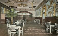 Bozeman Montana MT Grill Room Gallatin Commercial Club c1910 Postcard