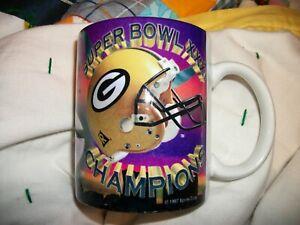 Vintage Green Bay Packers 1997 Super Bowl XXXI 31 Champions Coffee Mug NFL