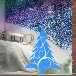 60-80cm Large Waterproof Christmas Tree Vine Shop Window Sticker Wall Art Decal