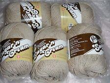 """5 Skeins, Lily, """"Sugar 'N Cream"""", Jute, 100% Cotton Yarn"""