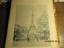 Planche Monument Anspach, Place de Brouckere Bruxelles 1898